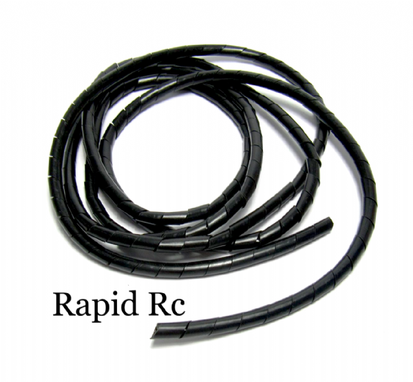 Spiral Wrap Tube ID 9mm / OD 10mm (Black - 2m)
